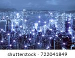 network business connection... | Shutterstock . vector #722041849