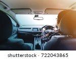 asian man on hipster shirt hand ... | Shutterstock . vector #722043865