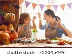 mother and her daughter having... | Shutterstock . vector #722045449
