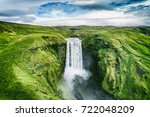 Iceland Waterfall Skogafoss In...