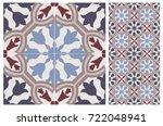 arabic patter style tiles for... | Shutterstock .eps vector #722048941