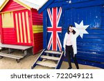 brighton  australia  august...   Shutterstock . vector #722049121