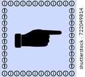hand icon  finger vector... | Shutterstock .eps vector #722049814