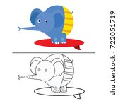 coloring book page animal... | Shutterstock .eps vector #722051719