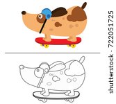 coloring book page animal... | Shutterstock .eps vector #722051725