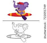 coloring book page animal... | Shutterstock .eps vector #722051749