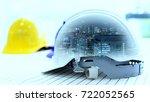 double exposure of standard... | Shutterstock . vector #722052565
