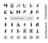 vector set of international... | Shutterstock .eps vector #722053387