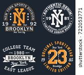set of new york graphic for t... | Shutterstock .eps vector #722053771