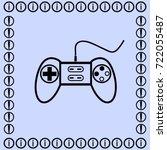 joystick silhouette vector... | Shutterstock .eps vector #722055487