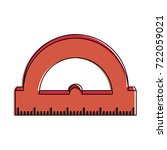 ruler measuring icon image  | Shutterstock .eps vector #722059021