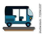 tuk tuk or rickshaw icon image  | Shutterstock .eps vector #722061337