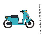 scooter motorbike icon image  | Shutterstock .eps vector #722062675