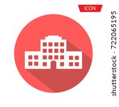 buildings vector icon  real... | Shutterstock .eps vector #722065195