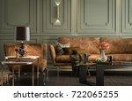 interior living room  modern...   Shutterstock . vector #722065255