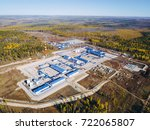 oil pipeline station | Shutterstock . vector #722065807