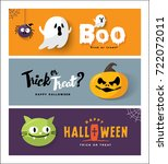 happy halloween | Shutterstock .eps vector #722072011
