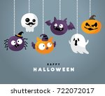happy halloween | Shutterstock .eps vector #722072017