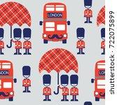 cartoon british vector seamless ... | Shutterstock .eps vector #722075899