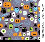 seamless pattern of various... | Shutterstock .eps vector #722075929