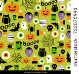 seamless pattern of various... | Shutterstock .eps vector #722075941