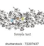 illustrated gift presents | Shutterstock . vector #72207637