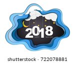 2018 happy new year concept ... | Shutterstock .eps vector #722078881