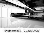abstract dynamic interior with...   Shutterstock . vector #722080939