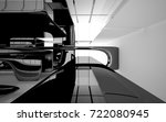 abstract dynamic interior with...   Shutterstock . vector #722080945