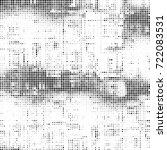 vector halftone black and white....   Shutterstock .eps vector #722083531