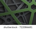 black background of tangled...   Shutterstock .eps vector #722086681