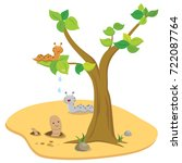 slug and earth worm in the... | Shutterstock .eps vector #722087764
