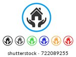 house care hands rounded icon.... | Shutterstock .eps vector #722089255