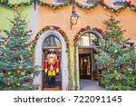 rothenburg ob der tauber ... | Shutterstock . vector #722091145
