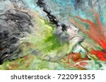 watercolor abstract bright...   Shutterstock . vector #722091355