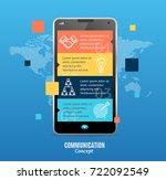 realistic 3d messenger... | Shutterstock .eps vector #722092549