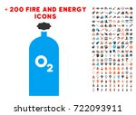oxygen gas cylinder pictograph... | Shutterstock .eps vector #722093911
