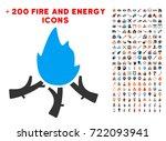 wood campfire icon with bonus...
