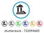 historic ruins rounded icon.... | Shutterstock .eps vector #722094685