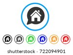 house mention rounded icon.... | Shutterstock .eps vector #722094901