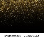 golden rain isolated on black... | Shutterstock .eps vector #722099665
