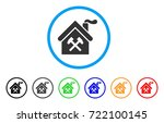 forge building rounded icon.... | Shutterstock .eps vector #722100145