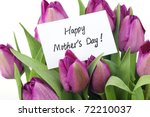 mother's day concept   purple...   Shutterstock . vector #72210037