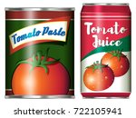 two canned food products from... | Shutterstock .eps vector #722105941