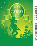 fiddler on st patricks day | Shutterstock .eps vector #72210655