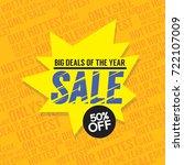 sale 50 percent off big deals... | Shutterstock .eps vector #722107009
