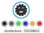 lady pleasure smiley gear icon. ... | Shutterstock .eps vector #722108611