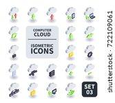 simple set of computer cloud... | Shutterstock .eps vector #722109061