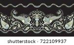 vector seamless pattern.... | Shutterstock .eps vector #722109937
