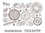 bakery and bread vector... | Shutterstock .eps vector #722110759